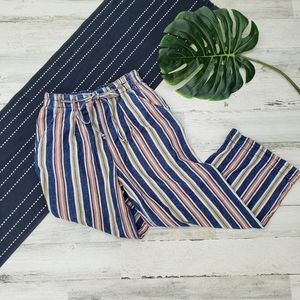 American Eagle  Pull On Wide Leg Pants Striped 2